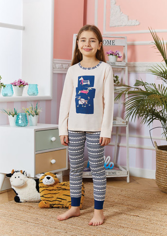 Пижама для девочки, (арт. 9257)