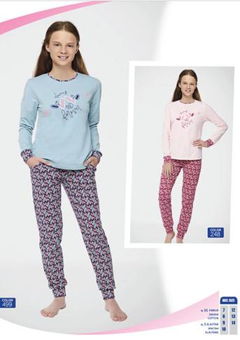 Пижама для девочки, (арт. 9100)