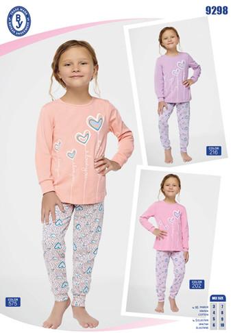 Пижама для девочки, (арт. 9298)