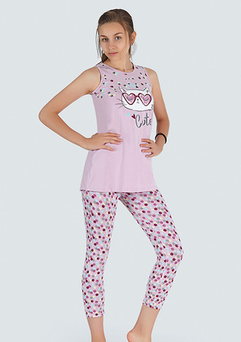 Пижама для девочки, (арт. 9370)