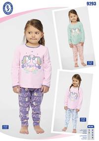 Пижама для девочки, (арт. 9293)