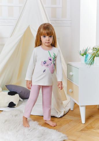 Пижама для девочки, (арт. 9235)