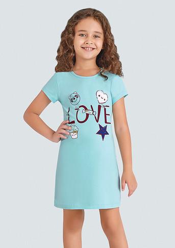 Ночная сорочка для девочки, (арт. 9373)
