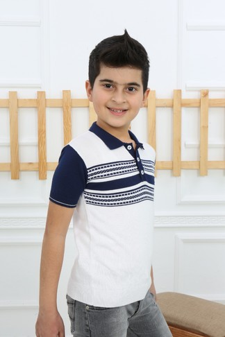 Футболка-поло для мальчика (арт. 11302) Dassimisi - фото 3